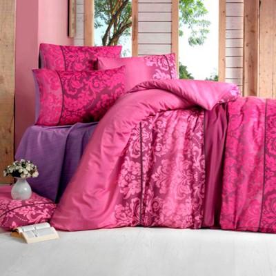 Комплект постельного белья бязь голд «Oyku» бордо | Light House