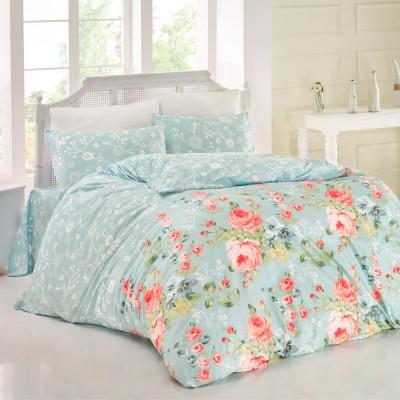 Комплект постельного белья ранфорс «Bouquet» голуб Light House