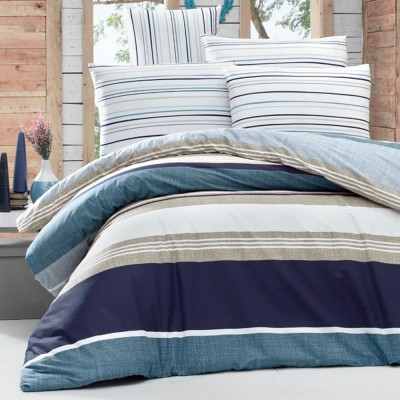 Комплект постельного белья ранфорс «Savoy» синий | Light House