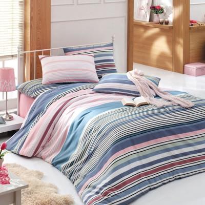 Комплект постельного белья бязь голд «Lines» розовый | Light House