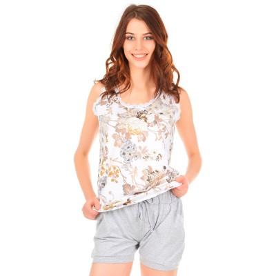 Комплект одежды «Amaranto» беж-серый Miss First