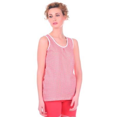 Комплект одежды «Cella» красный (майка шорты) Miss First