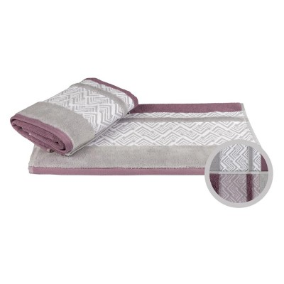 Полотенце «Nazende» сливовый/серый | Hobby