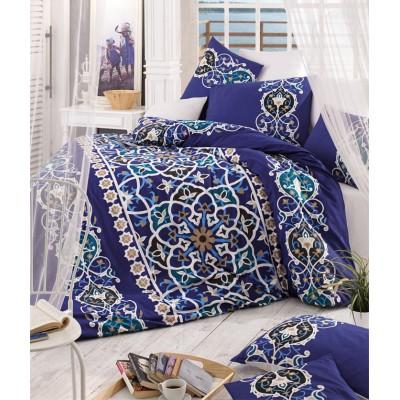 Комплект постельного белья ранфорс «Kayra» синий | Light House