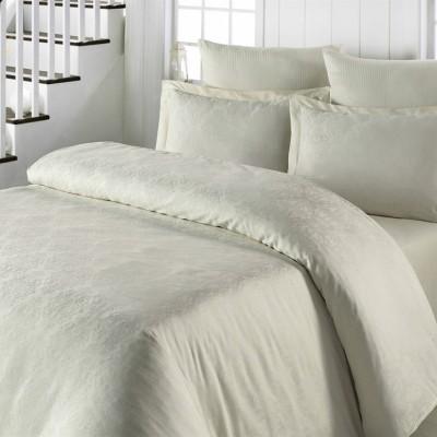Комплект постельного белья сатин-жаккард «Exclusive» бежевый | Light House