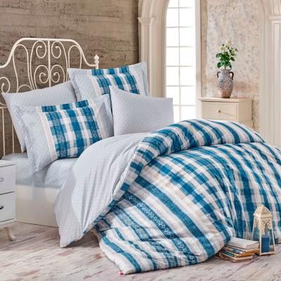 Комплект постельного белья поплин «Debora» голуб | Hobby