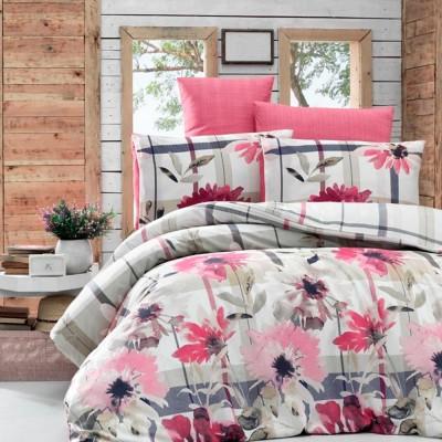 Комплект постельного белья бязь голд «Venesa» евро | фуксия | Light House