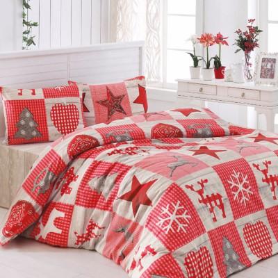 Комплект постельного белья бязь голд «Stars» красны | Light House