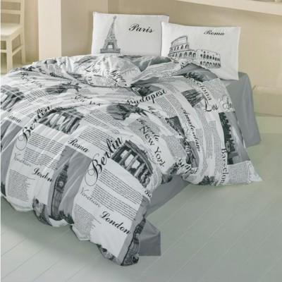 Комплект постельного белья ранфорс «City» Light House