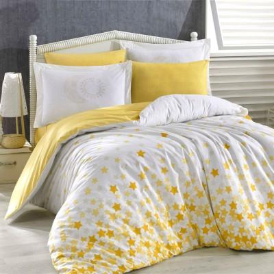 Комплект постельного белья поплин «Stars» желтый   Hobby
