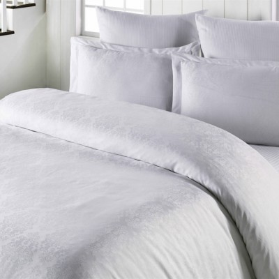 Комплект постельного белья сатин-жаккард «Exclusive» белый | Light House