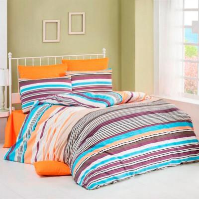 Комплект постельного белья бязь голд «Lines» оранж Light House