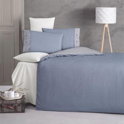 Комплект постельного белья ранфорс «Juliet» крем Luoca Patisca