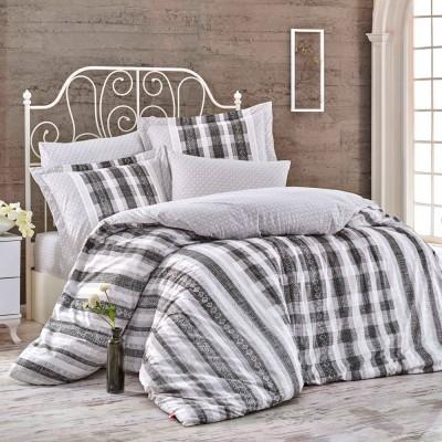 Комплект постельного белья поплин «Debora» серый | Hobby