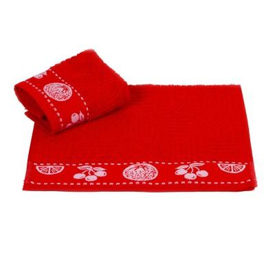 Полотенце кухонное «Meyve» красный   Hobby