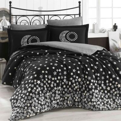 Комплект постельного белья поплин «Stars» серый | Hobby