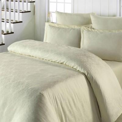 Комплект постельного белья сатин-жаккард «Exclusive» кремовый | Light House