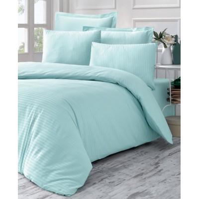 Комплект постельного белья сатин-жаккард «Line» мята