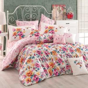 Комплект постельного белья поплин «Alessia» розовый | Hobby