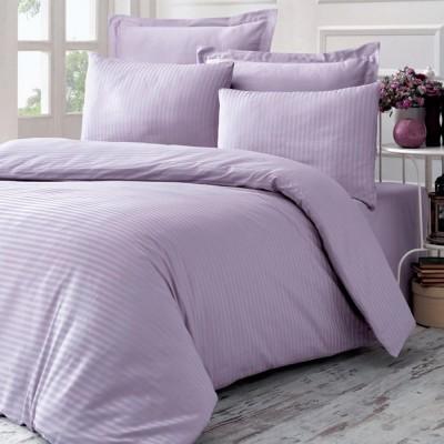 Комплект постельного белья сатин-жаккард «Line» евро | сирень | Victoria