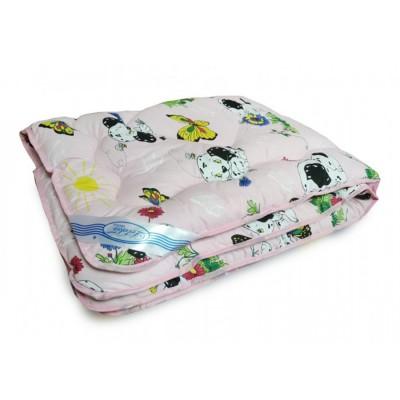 Одеяло детское Leleka Textile «Шерстяное» розовое