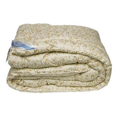 Одеяло зимнее Leleka Textile «Овечья шерсть зима» желто-бежевое