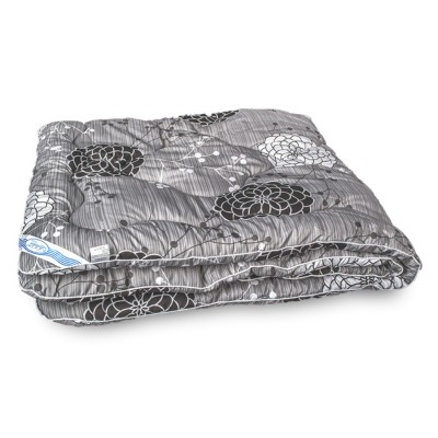Одеяло зимнее Leleka Textile «Шерстяное эконом» серое