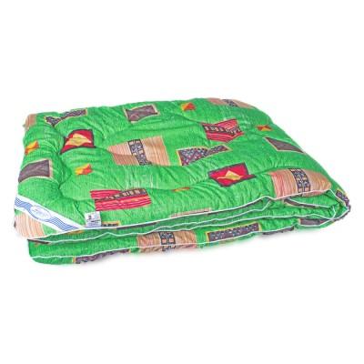 Одеяло зимнее Leleka Textile «Шерстяное эконом» зеленое