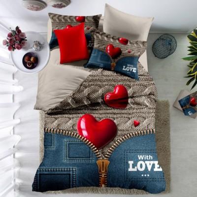 Постельное белье Love you «Полисатин qy 1053» евро-размер
