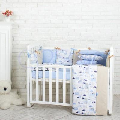 Комплект в детскую кроватку 6 предметов «City»