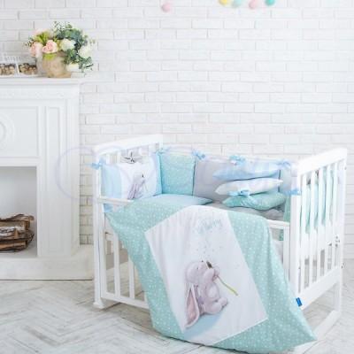 Комплект в детскую кроватку 6 предметов «Akvarel Одуванчик»