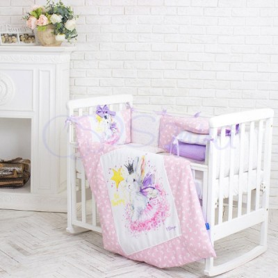 Комплект в детскую кроватку 6 предметов «Akvarel Фея»
