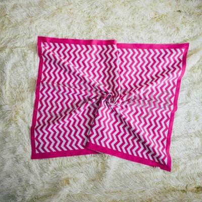 Плед детский вязаный «Зигзаг» розовый