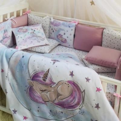 Комплект в детскую кроватку 6 предметов «Magic Единорог»