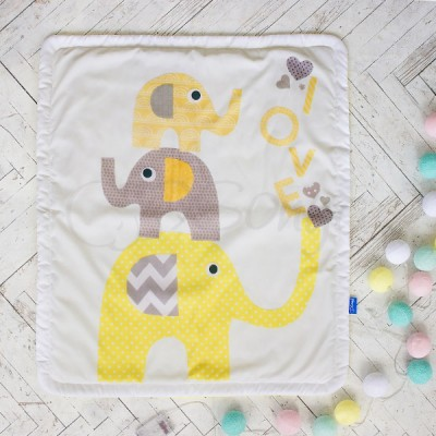 Плед детский «Желтые слоники»
