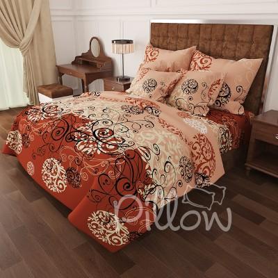 Комплект постельного белья бязь голд «n-0336-brown» NazTextile