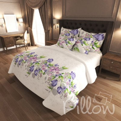 Комплект постельного белья бязь голд «n-7164-violet» NazTextile