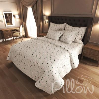 Комплект постельного белья бязь голд «n-7226-a-green» NazTextile