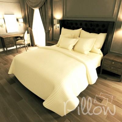 Комплект постельного белья сатин страйп «11-0507» NazTextile