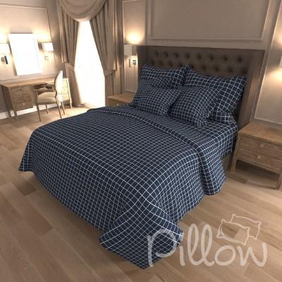 Комплект постельного белья бязь голд «n-7418-a-blue» NazTextile