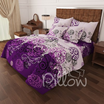 Комплект постельного белья бязь голд «n-0336-violet» NazTextile
