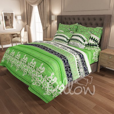 Комплект постельного белья бязь голд «n-6897-green» NazTextile