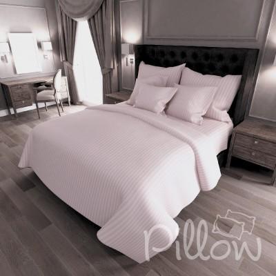 Комплект постельного белья сатин страйп «12-1605» NazTextile