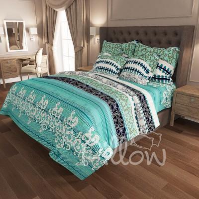 Комплект постельного белья бязь голд «n-6897-turqise» NazTextile