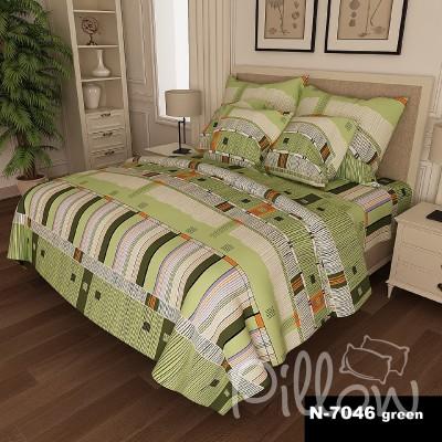 Комплект постельного белья бязь голд «n-7046-green» NazTextile