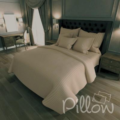 Комплект постельного белья сатин страйп «14-1209» NazTextile