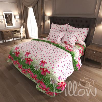 Комплект постельного белья бязь голд «n-6826-red» NazTextile