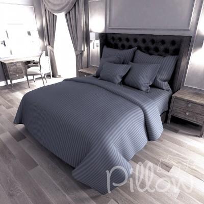 Комплект постельного белья сатин страйп «17-4402» NazTextile