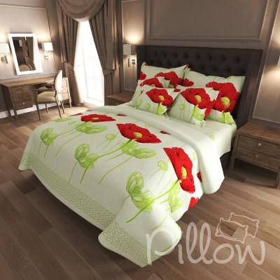 Комплект постельного белья бязь голд «n-4569-green» NazTextile