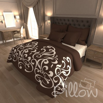 Комплект постельного белья бязь голд «n-7426-a-b-brown» NazTextile